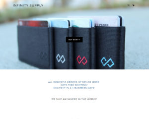 ScreenShot of InfinitySupply.co Website